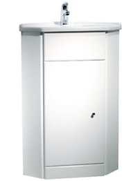 Tavistock Meridian 570mm White Corner Unit With Basin