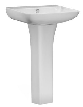 Tavistock Structure 550mm 1 Tap Hole Basin With Pedestal