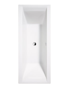 Essential Wave White Double Ended Bath 1700 x 750mm