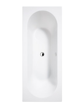 Essential Beach 1800 x 800mm White Double Ended Bath