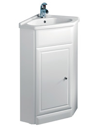 Tavistock Aspen 570mm White Corner Unit With Basin