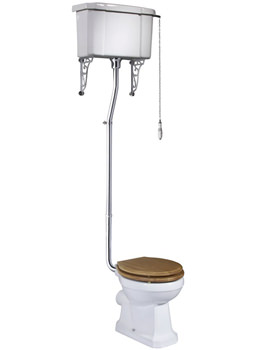 Tavistock Vitoria WC Pan With High Level Cistern And Fittings