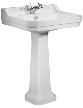 Tavistock Vitoria 605mm 1 Tap Hole Basin With Pedestal