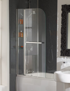 Essential Cascade 2 Panel Bath Screen 800 x 1400mm