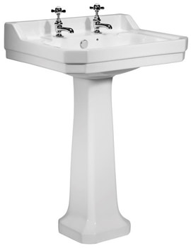Tavistock Vitoria 605mm 2 Tap Hole Basin With Pedestal