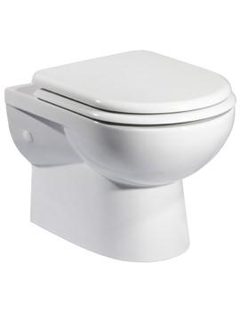 Tavistock Micra Wall Hung WC Pan 515mm With Soft Close Seat