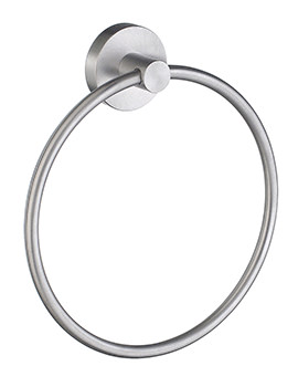 Smedbo Home Brushed Chrome Towel Ring