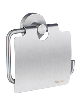 Smedbo Home Brushed Chrome Toilet Roll Holder With Cover