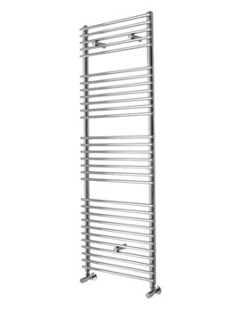 Essential Gemini Deluxe Straight Chrome Plated Towel Warmer 500 x 1450mm