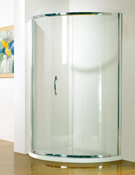 Kudos Infinite Centre Access Curved Slider Door 910mm Silver