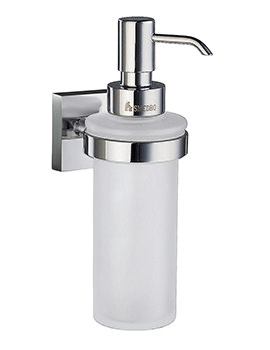 Smedbo House Polished Chrome Frosted Glass Soap Dispenser