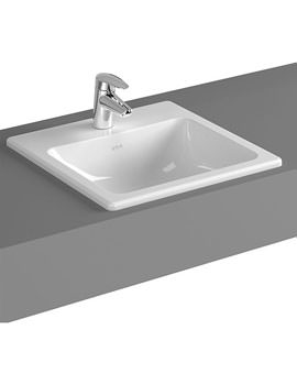 VitrA S20 450mm Square 1 Tap Hole Inset Basin