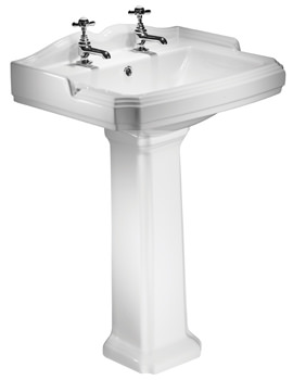 Tavistock Salisbury 600mm 2 Tap Hole Ceramic Basin