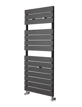Essential Libra Deluxe Anthracite Straight Towel Warmer 500 x 1210mm