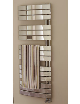 Essential Aries Deluxe Chrome Plated Curved Towel Warmer 550 x 1380mm