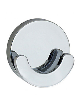 Smedbo Loft Polished Chrome Double Towel Hook