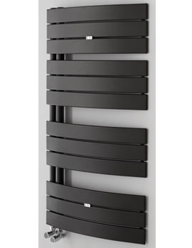 Essential Aries Deluxe Anthracite Curved Towel Warmer 550 x 1080mm