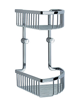 Smedbo Loft Polished Chrome 2 Level Corner Soap Basket