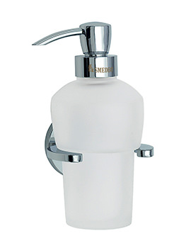 Smedbo Loft Polished Chrome Frosted Glass Soap Dispenser