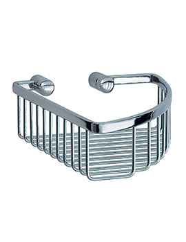 Smedbo Loft Polished Chrome Corner Soap Basket
