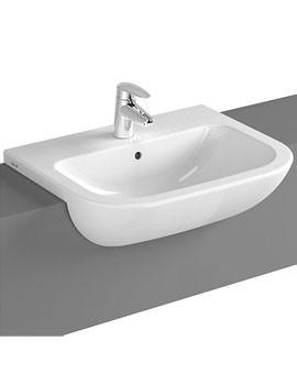 VitrA S20 1TH 55cm Semi-Recessed Basin