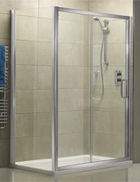 Tavistock Oxygen 8 1400mm Straight Sliding Shower Door