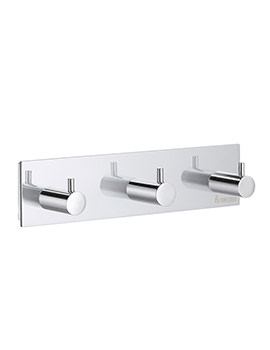 Smedbo Pool Polished Chrome Triple Towel Hook