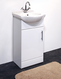 Essential Gem White 450mm Vanity Basin and Unit