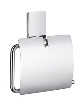 Smedbo Pool Polished Chrome Toilet Roll Holder With Lid