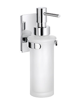 Smedbo Pool Polished Chrome Frosted Glass Soap Dispenser