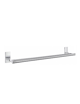 Smedbo Pool Polished Chrome Double Towel Rail