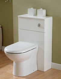 Essential Gem White Back To Wall WC Unit