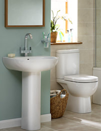 Essential Lily White Cloakroom Suite