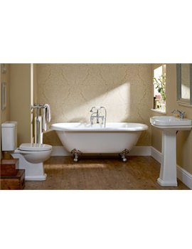 Essential Iris White Bathroom Suite