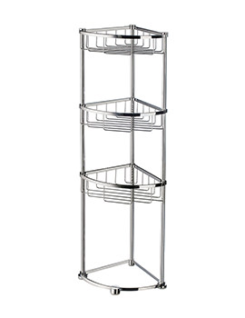 Smedbo Sideline Freestanding Corner 3 Level Soap Basket