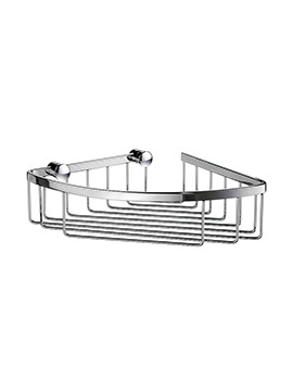 Smedbo Sideline Polished Chrome Corner 1 Level Soap Basket