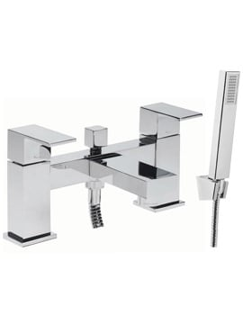 Tavistock Index Deck Mounted Bath Shower Mixer Tap And Handset