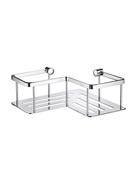 Smedbo Sideline Polished Chrome Design Corner 1 Level Soap Basket