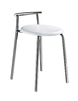 Smedbo Outline 600mm Shower Chair With White Seat