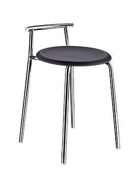 Smedbo Outline 600mm Shower Chair With Black Seat