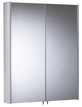 Tavistock Move Double Mirror Door Aluminium Cabinet 580 x 700mm