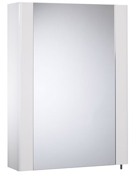 Tavistock Detail White Gloss 1 Mirror Door Cabinet 475 x 650mm