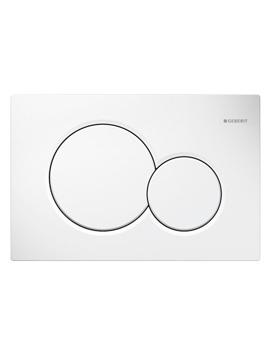 Geberit Sigma01 White Alpine Dual Flush Plate