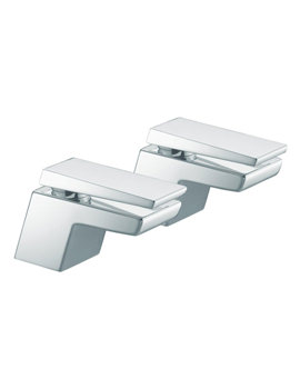 Bristan Sail Chrome Finish Pair Of Bath Taps