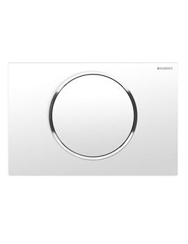 Geberit Sigma10 Single Flush Plate-White-Bright Chrome