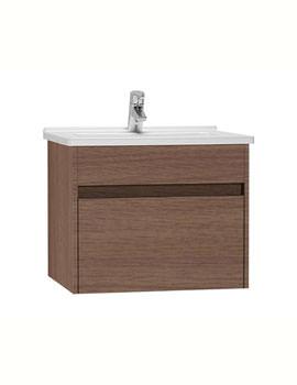 VitrA S50 Dark Oak 60cm Washbasin Unit With Basin