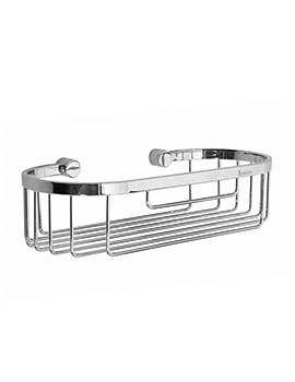Smedbo Time Polished Chrome Straight 1 Level Soap Basket