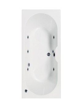 Aquaestil Calisto 1700 x 700mm Whirlpool Bath With 6 Jets