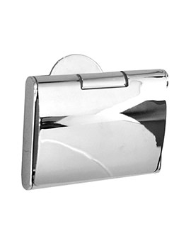 Smedbo Time Polished Chrome Toilet Roll Holder With Lid