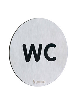 Smedbo Xtra Brushed Stainless Steel WC Toilet Sign